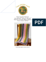 Crochet Pattern Summer Stripes Baby Afghan 90233AD
