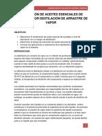 308290840 Extraccion de Aceites Esenciales de Eucalipto Por Destilacion de Arrastre de Vapor