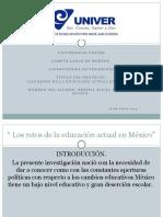 Los retos de la educación Actual en México