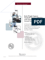 Body-Weight Support Treadmill Training (BWSTT) with Transition to Over Ground Ambulation