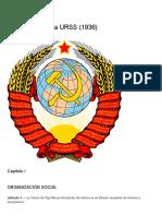Constitución de La Urss (1936) – Universidad Obrera