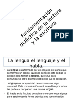 Tarea Para Exponer Diapositiva de La Lectura y La Escritura