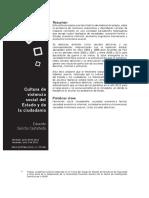 Eduardo Sancho Castañeda - Cultura de violencia social del Estado y de la ciudadanía