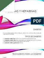 Insulinas y Heparinas