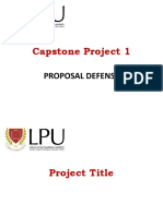 Thesis Capstone Proposal Defense