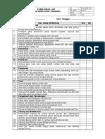 Form No FM-00-SHE-062 Inspeksi Workshop (Rev 0)