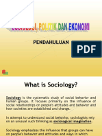 Sosiologi politik dan ekonomi