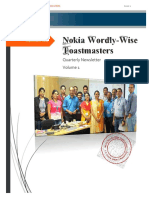 Wordly-Wise Toastmasters Club Newsletter