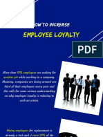 How to Increase Employee Loyalty