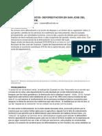 Deforestación en El Municipio de San José Del Guaviare.