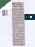 Manila Standard, July 17, 2019, Salceda bats for housewives compensation.pdf
