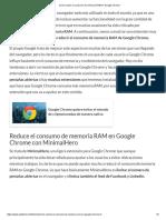 Cómo Reducir El Consumo de Memoria RAM en Google Chrome