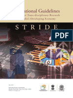 trans-disciplinary research areas for HEI's under STRIDE