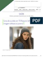 Cena de Suicídio Em _13 Reasons Why_ é Editada; Imagem Afetava Os Jovens_ - 16-07-2019 - UOL VivaBem
