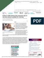 Centre's Draft Tenancy Law