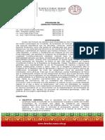 Programa de Derecho Financiero I