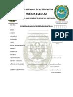 Ficha Personal de Acreditacion Bapes, Pol.escolar Pat.juv