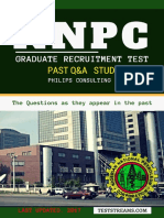 NNPC Recruitment Test Past Questions Study Pack Opt