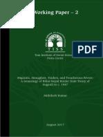Working Paper 2 Mithilesh Kumar