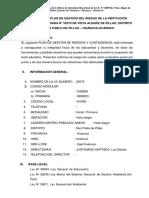 Plan de GRD y Plan de Contingencia de La IIEE de Vista Alegre