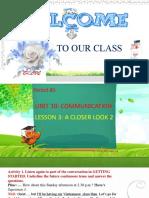 Unit 10 Communication Lesson 3 a Closer Look 2
