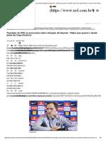 Treinador Do PSG Se Pronuncia Sobre Situação de Neymar_ 'Sabia Que Queria Ir Desde Antes Da Copa América' _ Jovem Pan Online