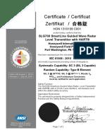 SLG700-Exida-HON 1310109 C001 R1_1