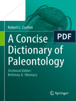 2018 A Concise Dictionary of Paleontology