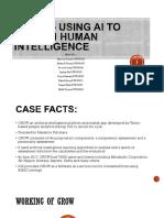 GROW – Using AI to Screen Human Intelligence