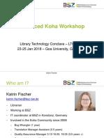 Advanced Koha Workshop-katrin