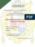 Posicionamiento de Derivado de Tocosh en El Perú