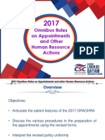 OHRA ORA Guidelines