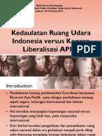 Kedaulatan Ruang Udara Indonesia Versus Konsep Liberalisasi APEC