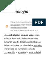 Sociobiología - Wikipedia, La Enciclopedia Libre