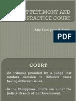 Court Testimony (BFP Specialized Presentation)