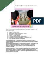 Conocimiento y cuidado del cuerpo. Propuestas para la educación sexual