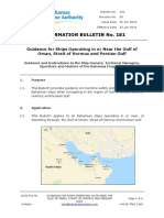 181 Guidance for Ships Operating in or Near the Gulf of Oman Strait of Hormuz and Persian Gulf Rev0