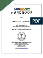 Handbook PDCET July 2017