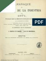 Almanaque de El Museo de La Industria. 1871