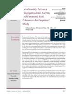 Relationship Between Biopsychosocial Factors and Financial Risk Tolerance_ an Empirical Study