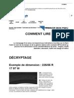 Comment Lire Le Marquage d'Un Pneu _ Dimensions & Caractéristiques Marquage Pneumatique