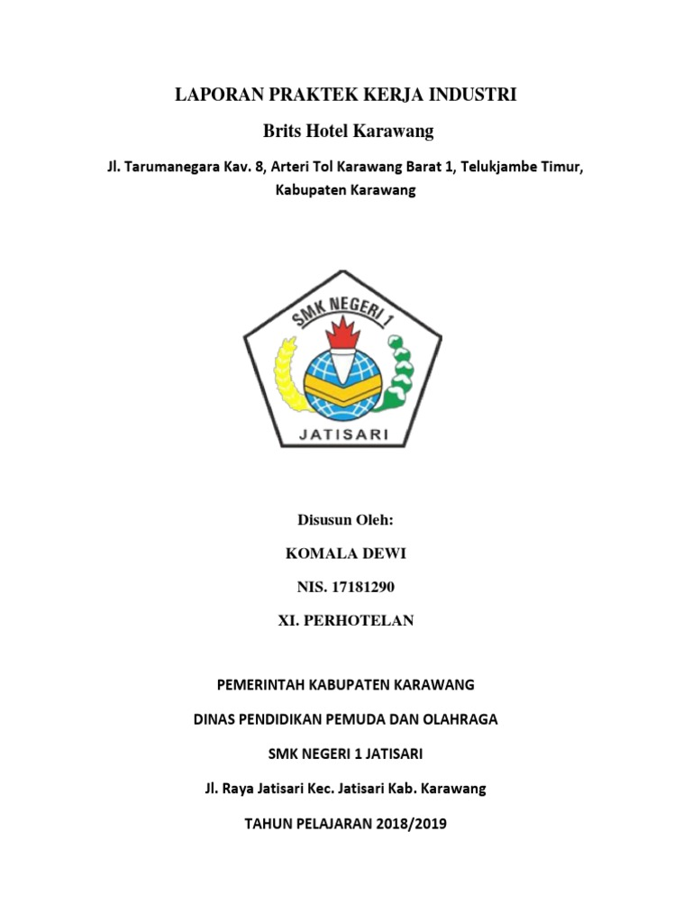 Laporan Pkl Housekeeping Komala Dewi
