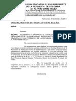 Oficio Padrino de Castillo
