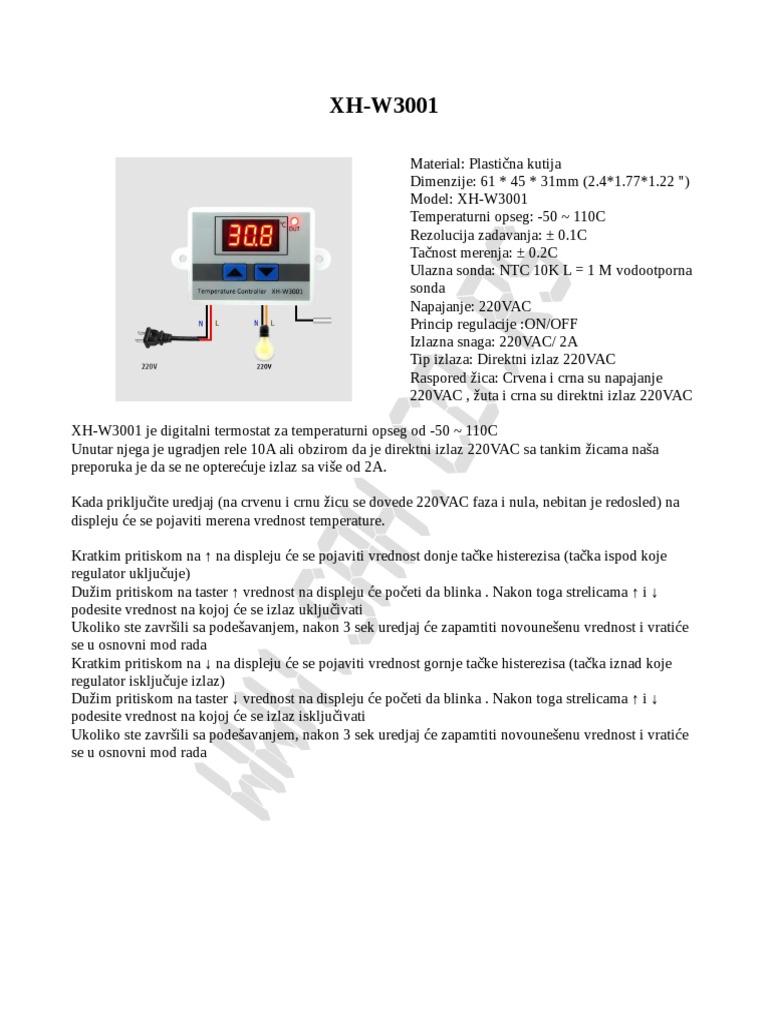 Priključite digitalni termostat