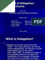 Delegation Finaler