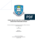 Steel Beam-Column Connections Designed for Robustness