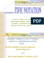 scienctific notation