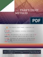 SUM of the Year's Digit Method