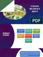 Budget 5 April 2019