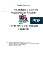1 - Classroom Procedures and Routines
